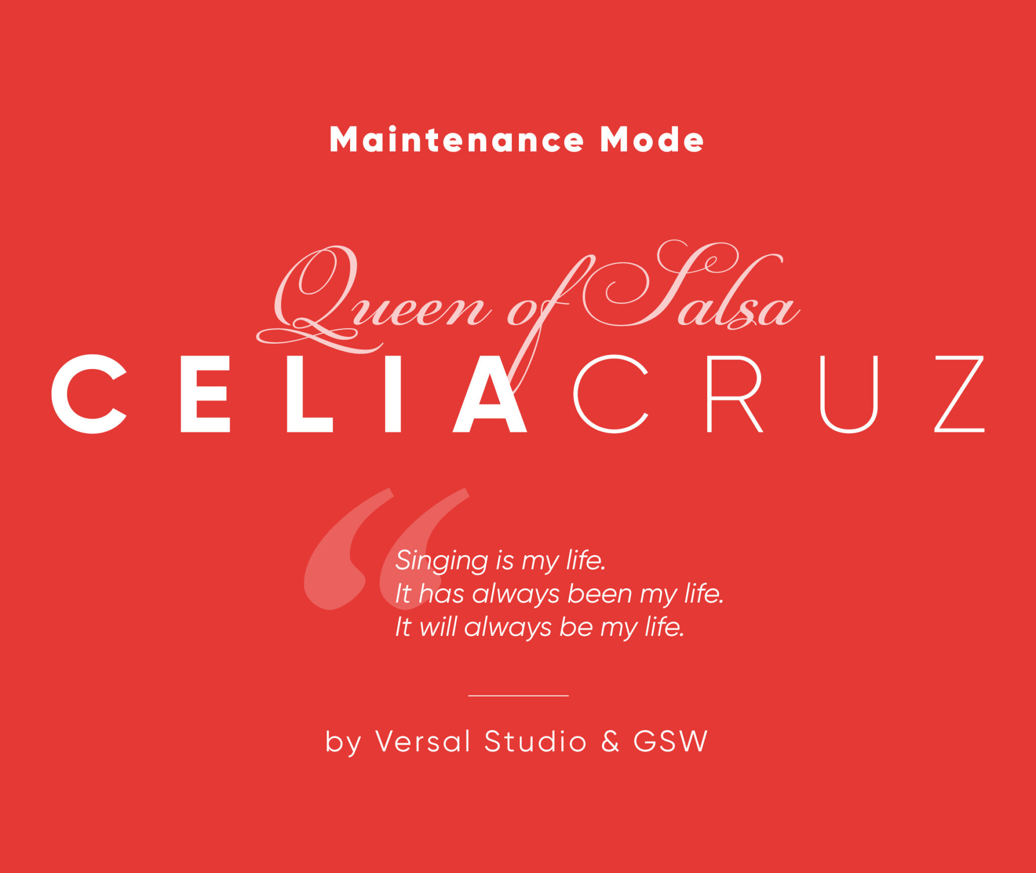 Celia Cruz - Maintenance Mode