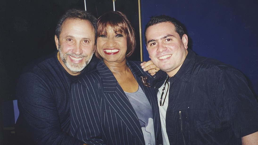 Celia Cruz with Emilio Estefan and Omer Pardillo