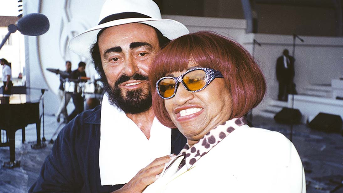 Pavarotti and Celia Cruz