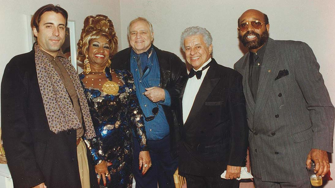 Andy Garcia, Celia Cruz, Marlon Brando, Tito Puente & Ralph Mercado