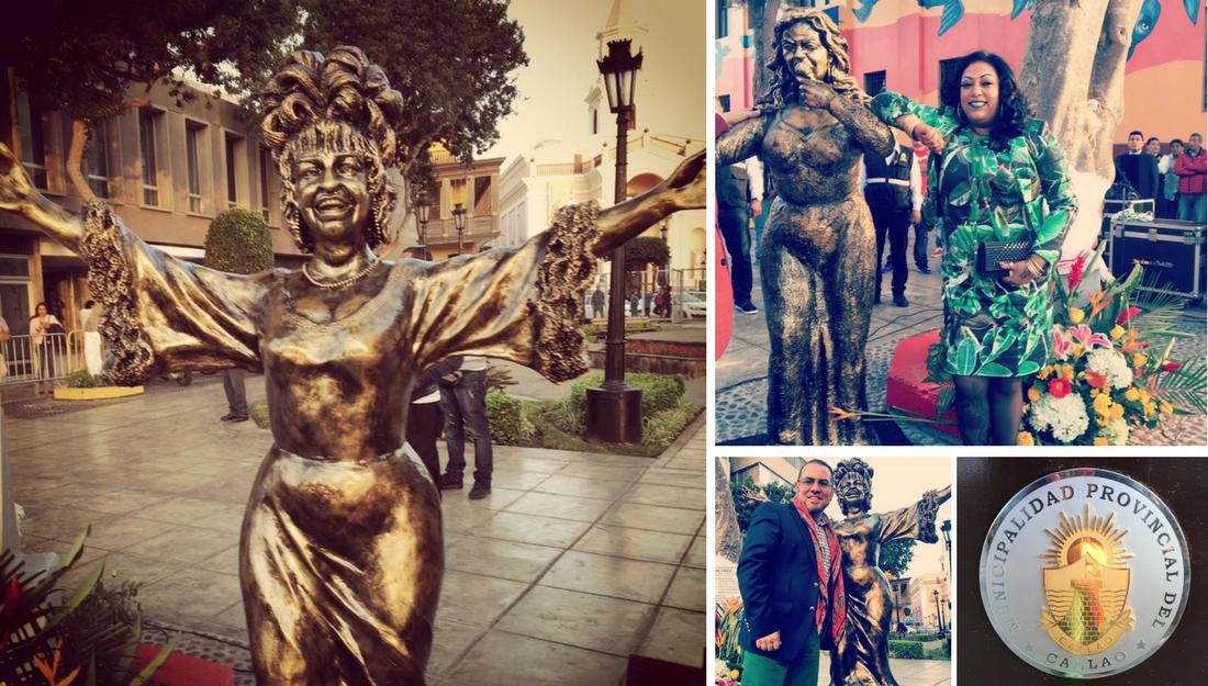 Celia Cruz's Statue in Callao, Lima Peru