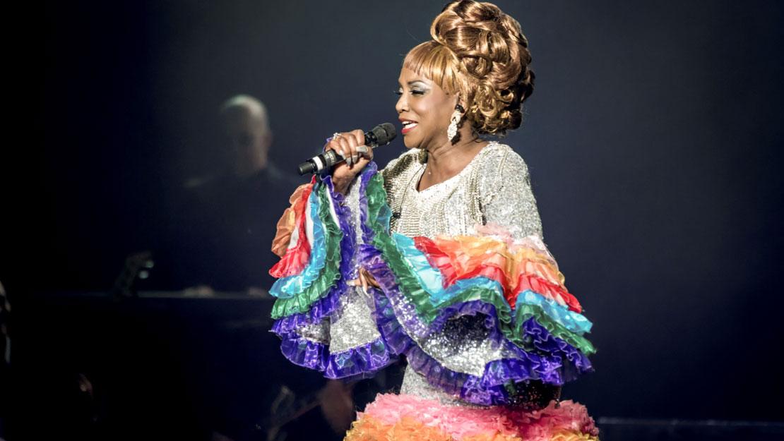 Lucrecia como Celia Cruz