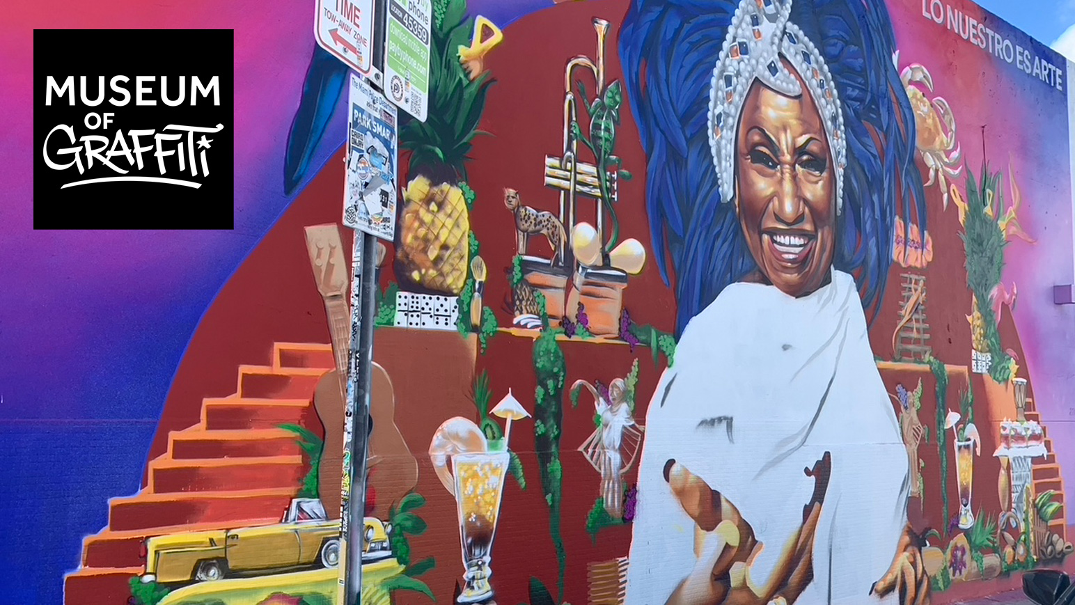 Celia Cruz Graffiti