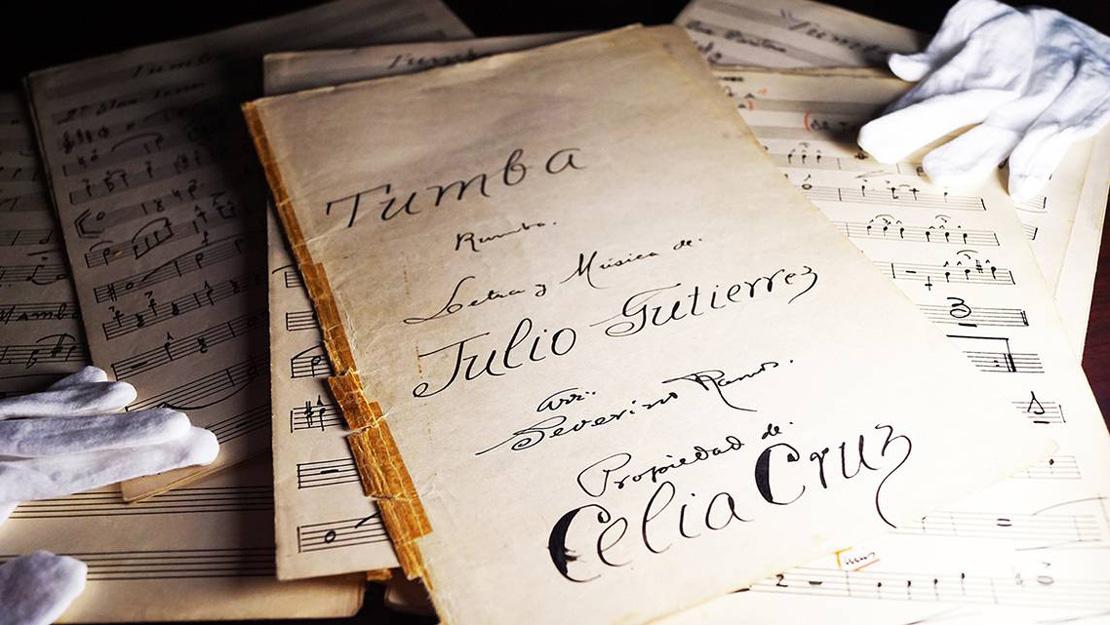 Partituras pertenecientes a Celia Cruz